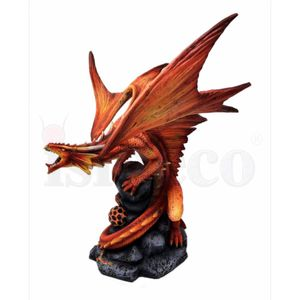 Mutter Drache Draco Ignis - Fire Dragon by Anne Stokes 24,5cm – Bild 3