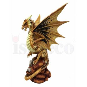 Mutter Drache Draco Aurum - Desert Dragon by Anne Stokes 24,5cm – Bild 3