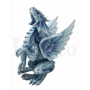 Baby Drache Draco Argentum - Silver Dragon by Anne Stokes 11,5cm – Bild 3