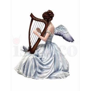 Elfe Chorus spielt Harfe by Nene Thomas 20cm – Bild 3