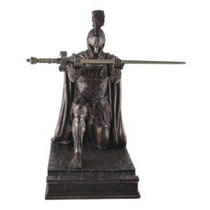 Figur römischer Zenturio kniet mit Schwert in den Händen (Brieföffner-Ablage) 18cm – Bild 1