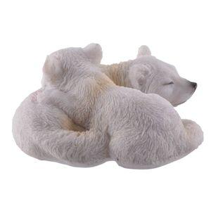 Zwei junge Polarwölfe schlafen eng umschlungen 10cm – Bild 2