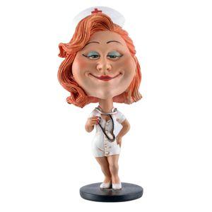 Funny Life - Wackelkopf sexy Krankenschwester mit Stethoskop - Bobble-Head 15cm
