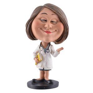 Funny Life - Wackelkopf Ärztin mit Patienten Ordner - Bobble-Head 15cm