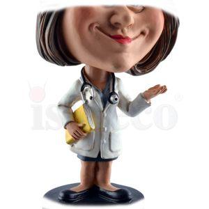 Funny Life - Wackelkopf Ärztin mit Patienten Ordner - Bobble-Head 15cm – Bild 5