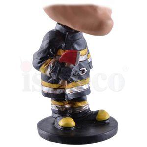 Funny Life - Wackelkopf Feuerwehrmann mit Axt Fire Departement 1 - Bubble-Head 15cm – Bild 6