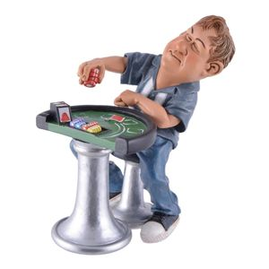 Funny Life - Pokerspieler am Pokertisch 16cm