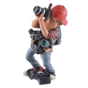 Funny Life - Paparazzo mit vielen Kameras - Fotograf Paparazzi schießt Bilder 17cm
