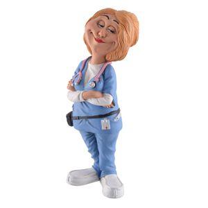 Funny Life - Krankenschwester mit Stethoskop steht und lächelt 17cm – Bild 1