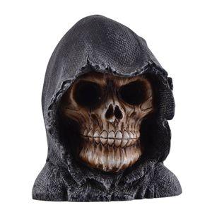 Grim Reaper Totenkopf mit LED beleuchteten Augen 9cm (Lief. o. Batt.) – Bild 1
