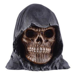 Grim Reaper Schädel mit LED beleuchteten Augen 15cm (Lief. o. Batt.) – Bild 1