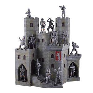 Display mittelalterliche Ritterburg mit 14er Set Ritter – Bild 1
