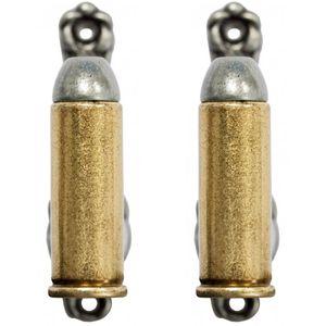 2er Set Wandhalter 45er Colt Patronen gold-silber – Bild 1