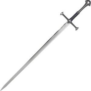Mittelalterliches Ritter Schwert mit schwarzer Scheide – Bild 1