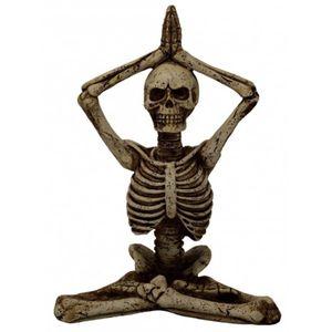 Yoga Skelett faltet die Hände über seinem Kopf 15cm