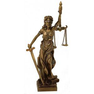 Justitia Göttin der Gerechtigkeit bronziert 20cm – Bild 1