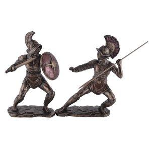 Zwei Gladiatoren ein Murmillo im Kampf gegen den Hoplomachus 25-26cm – Bild 1