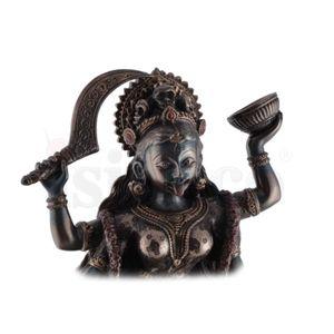 Indische Todesgöttin Kali steht mit Fuß auf Shiva 20cm – Bild 6