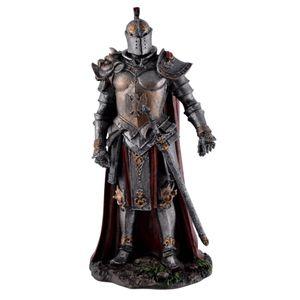 Dark Knight Ritter in dunkler Rüstung mit rotem Umhang 19cm – Bild 1