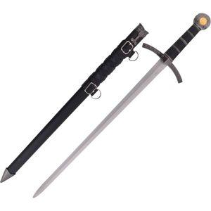 Kurzschwert der Kreuzritter mit Lederriehmen verzierter Scheide 59cm – Bild 1