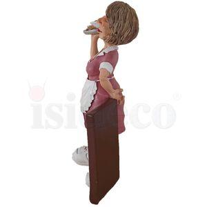Funny Job - Kellnerin steht mit Tablett vor der Tageskarte 17cm – Bild 5