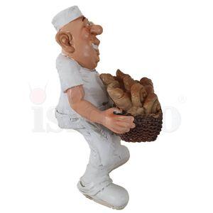 Funny Job - Bäcker trägt einen Brotkorb mit Gebäck 16cm – Bild 3