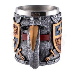 Krug mit mittelalterlichem englischen farbigen Wappen 19cm – Bild 4