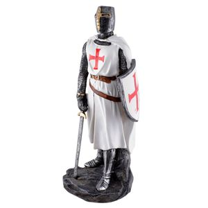 Templer Ritter mit Schild und Schwert weiß mit roten Kreuz 30cm – Bild 1
