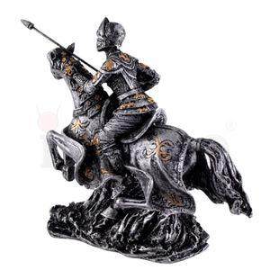 2er Set mittelalterliche Ritter auf Pferd mit Lanze und Schwert 12-13cm – Bild 6