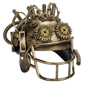 Steampunk Helm Baseball Helm mit offenem Visier 37cm