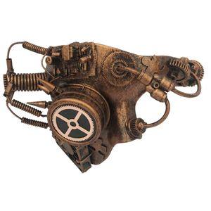 Steampunk Maske Halbmaske Cyber Switch 24cm