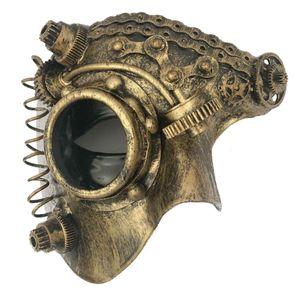 Steampunk Maske Halbmaske Dark Dream 16cm