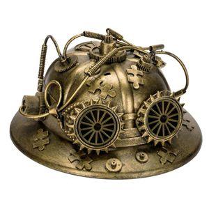 Steampunk Helm Feuerwehr Firefighter's Helmet 28cm