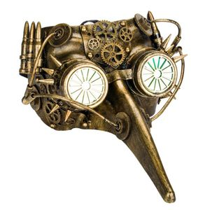 Steampunk Maske Pestdoktor Schnabelmaske Hypno-Pestdoctor 27cm