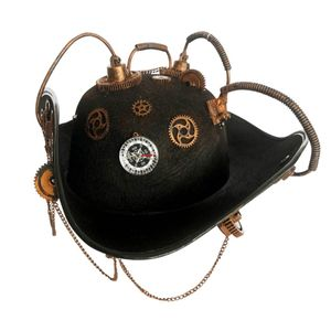 Steampunk Hut Piratenhut Steam Pirate 2 mit Kompass 42cm – Bild 1