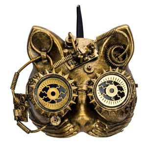 Steampunk Maske Katze Steam-Cat 18cm