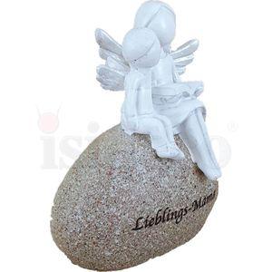 Mutter Engel mit Kind auf Stein - Lieblings-Mama 8,5cm Muttertag – Bild 3