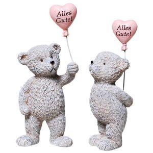 2er Set Bärchen mit Herz-Ballon - Alles Gute 10,5cm