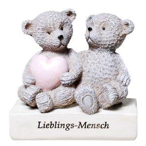 Bärchen-Paar mit Herz - Lieblings-Mensch 7,5cm