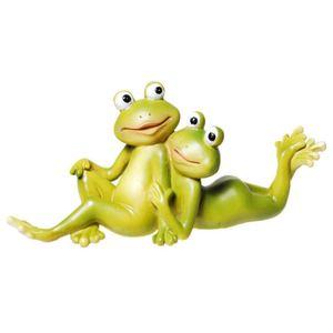 Verliebtes Frosch Pärchen liegend 14,5cm