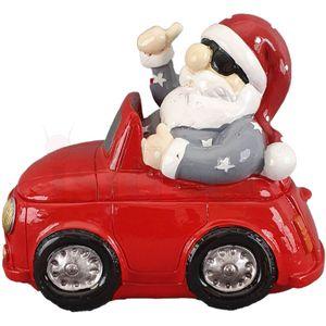 Spardose cooler Weihnachtsmann im Auto mit Daumen hoch 14,5cm Weihnachten – Bild 6