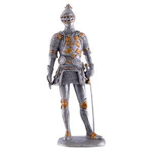Zinnritter stehend mit Schwert in seiner linken Hand 11cm – Bild 1