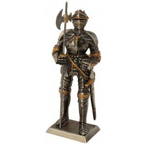 Zinnritter Ritter steht mit Hellebarde in der rechten Hand 11,5cm – Bild 1
