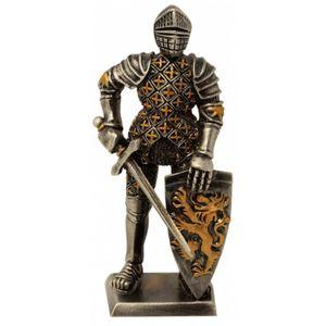 Zinnritter Ritter steht mit Schwert in der Hand und Schild 10,5cm – Bild 1