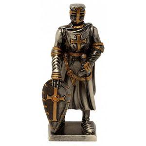 Zinnritter Templer Ritter steht mit Schild 10,5cm – Bild 1