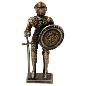 Zinnritter Malteser Kreuzritter mit Schwert & Rundschild 10,5cm – Bild 1
