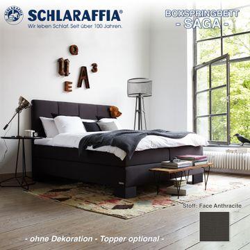 Schlaraffia Boxspringbett Saga Partnermatratze 200x200 cm – Bild 1