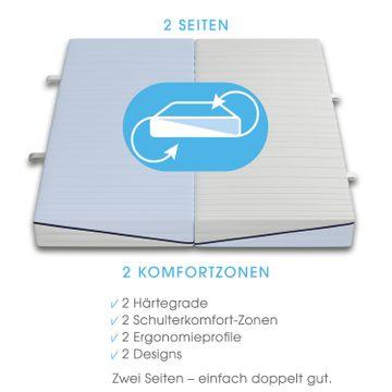 Schlaraffia Clever 35 TFK 2-Härten Taschenfederkern Matratze 140x200 cm H2(weich)+H2(fest) – Bild 4