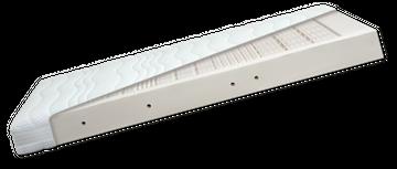 Diamona Latex Pure 7-Zonen Matratze 160x210 cm (2 Kerne, durchgehender Bezug) H2/H2