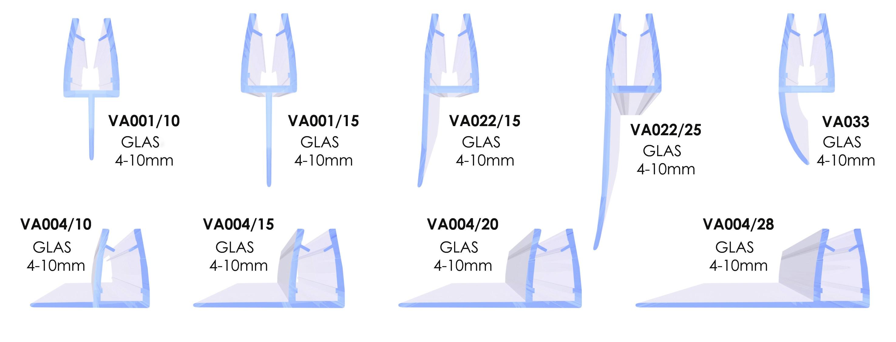10 mm 8 6 Glasst/ärke: 4 Glasst/ärke:4 mm VON ADELBERG Duschdichtung Wasserabweiser Gerade PVC Ersatzdichtung f/ür Dusche Typ: VA001-10 L/änge: 40 bis 200 cm Dichtung L/änge:40 cm